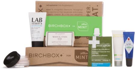 JetBlue Mint Birchbox Amenity Kit example
