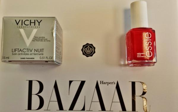 Glossybox September 2014 Harper Bazaar Essie Vichy