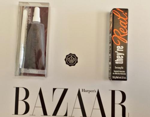 Glossybox September 2014 Harper Bazaar Lip Tar Benefit Mascara