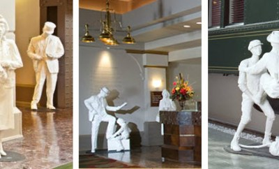IHG Crowne Plaza Union Station white statues