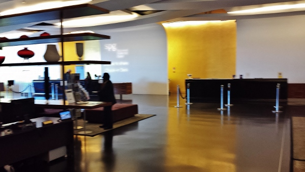 MXP Sheraton Malpensa Check in area