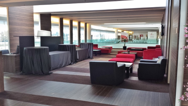 MXP Sheraton Malpensa Club Lounge seating area