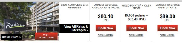 Radisson AAA rate comparison