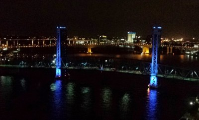Hyatt Regency Jacksonville Riverfront King River View night