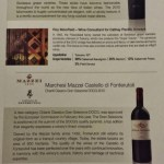 Cathay Pacific First Class JFK YVR Italian Wine Promotion menu Option A