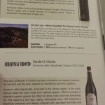 Cathay Pacific First Class JFK YVR Italian Wine Promotion menu options A