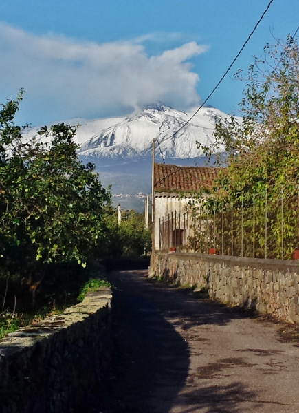 Zash Country Boutique Hotel Sicily Driveway Etna View