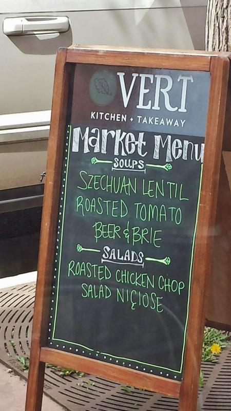 Vert Kitchen Denver Menu