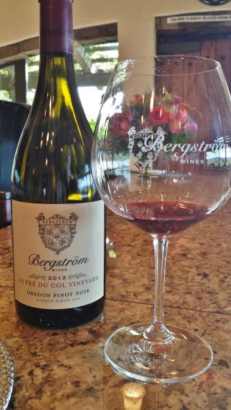 Bergstrom Wines Le Pre Du Col Pinot Noir wine tasting