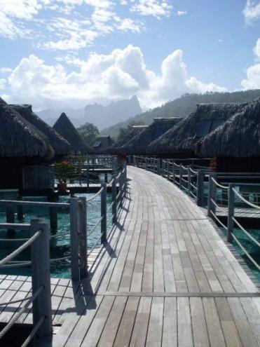 Hilton Moorea Lagoon Resort Overwater Bungalow access