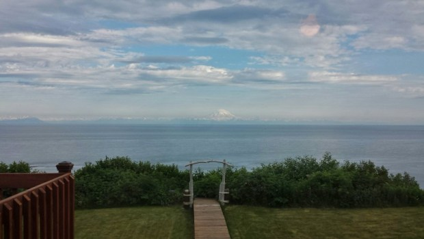 The Bluff House Inn Ninilchik Alaska backyard view