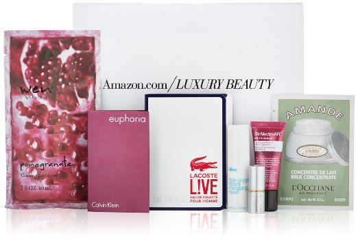 amazon free luxury beauty box with purchase