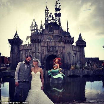 dismaland couple cancels honeymoon photo courtesy theweddingfairy tv