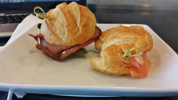 Flagship Lounge JFK Terminal 8 sandwiches