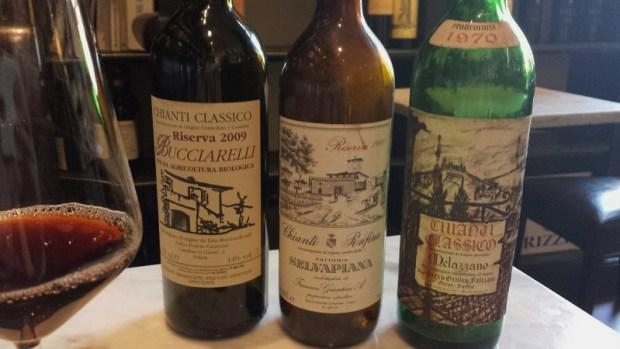 Pitti Gallo e Cantina Enoteca 3 decade chianti bottles Florence Italy