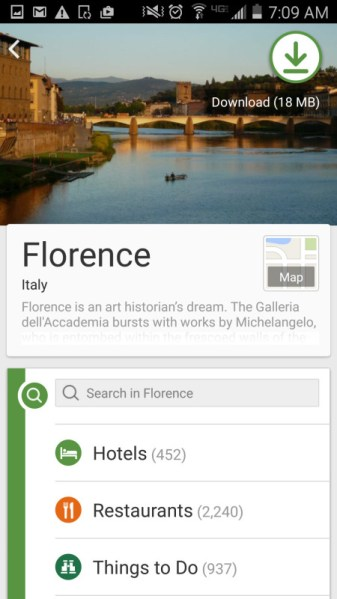 Tripadvisor city guide download florence