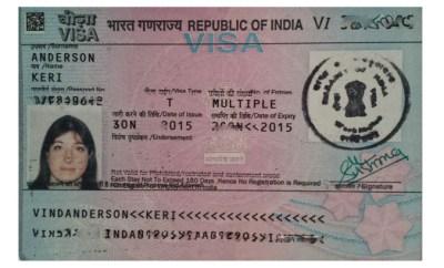 Keri Indian Visa