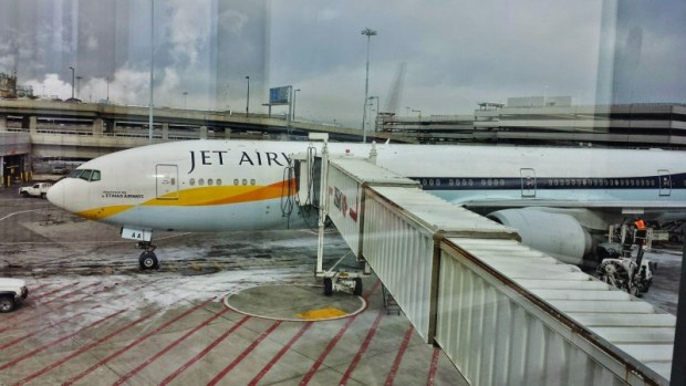 Jet Airways plane JFK-AUH