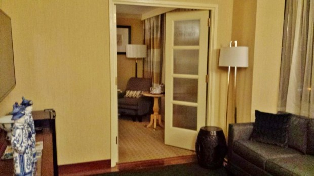 Sheraton Laguardia East Hotel executive suite living room doors