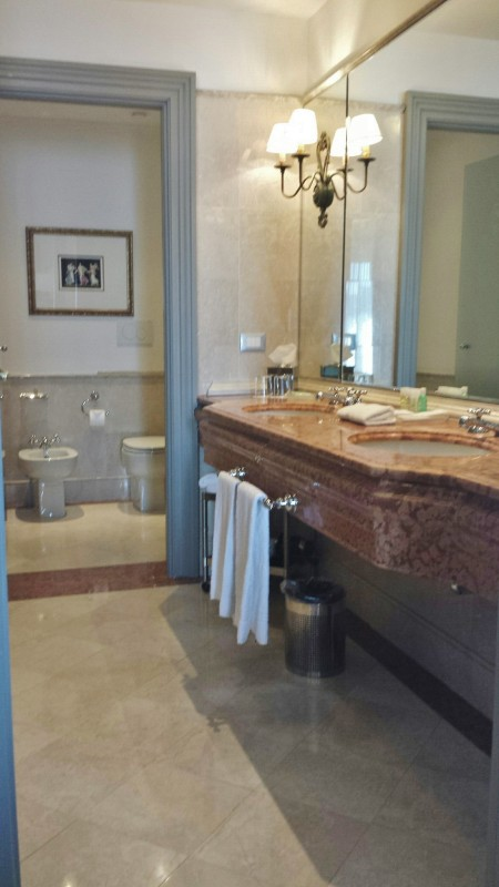 Westin Excelsior Florence hotels river view king bathroom