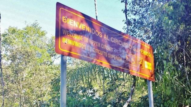 iguazu falls upper circuit sign