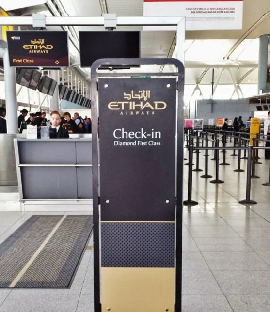 jFK Terminal 4 Etihad first class Checkin