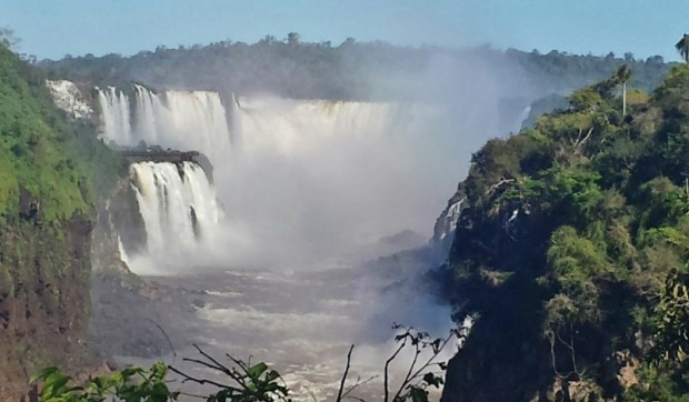 view of devils throat from lower circuit iguazu falls