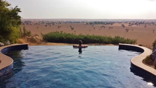 Al Maha Resort Infinity Pool view