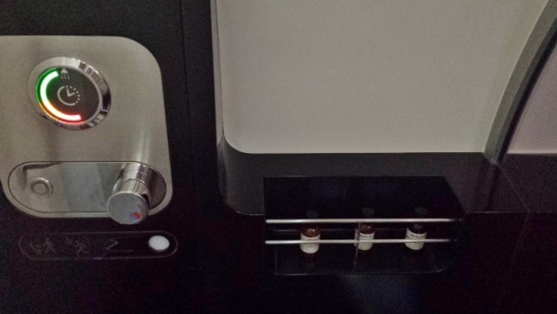 Etihad A380 First Apartment JFK-AUH inaugural shower controls