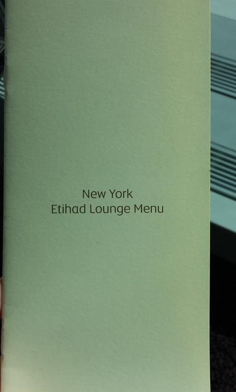 Etihad lounge jfk opening menu