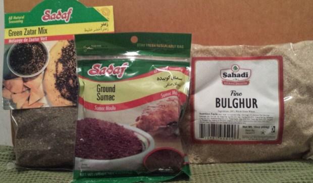 Spiced Pantry Review Lebanon Box zaatar sumac bulgar