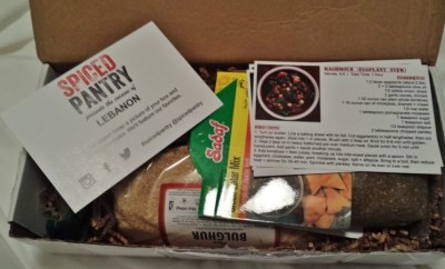 Spiced Pantry Review Lebanon Box