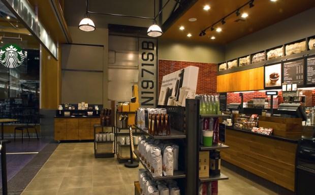 Starbucks Airport Location PDX Portland-Interior