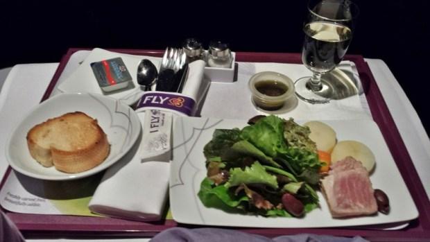 Thai Airways Business Class Chennai Bangkok appetizer