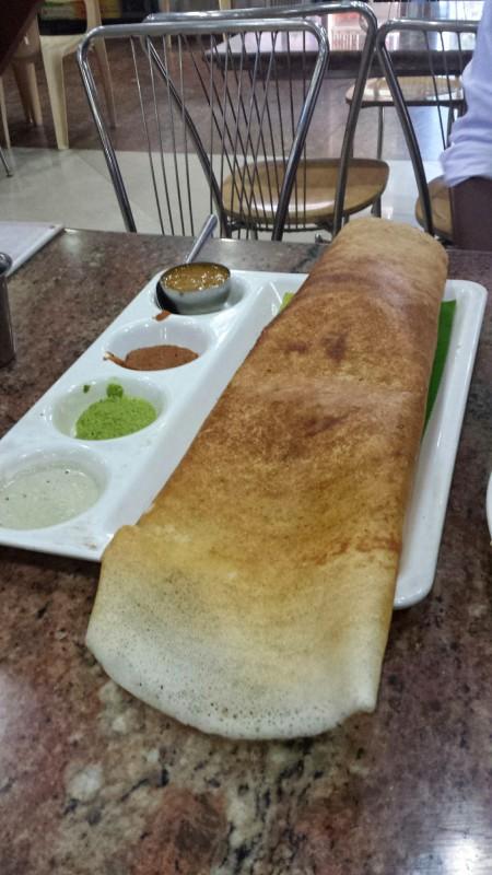 saravana bhavan chennai restaurant dosa with sauces