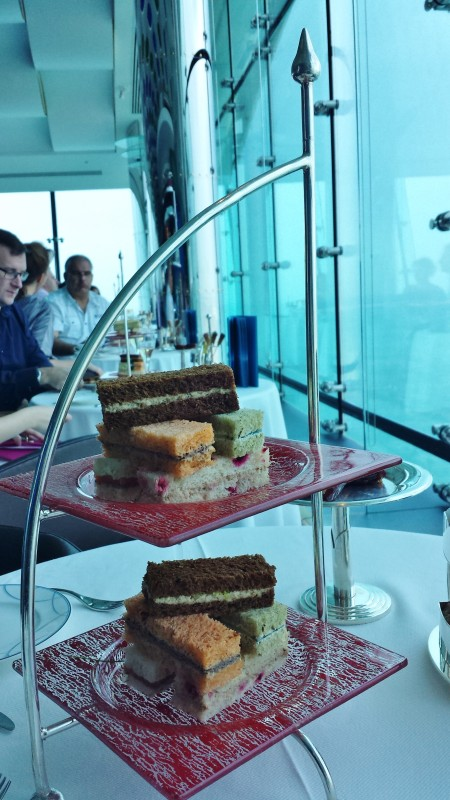 Burj Al Arab afternoon tea Skyview Bar finger sandwiches