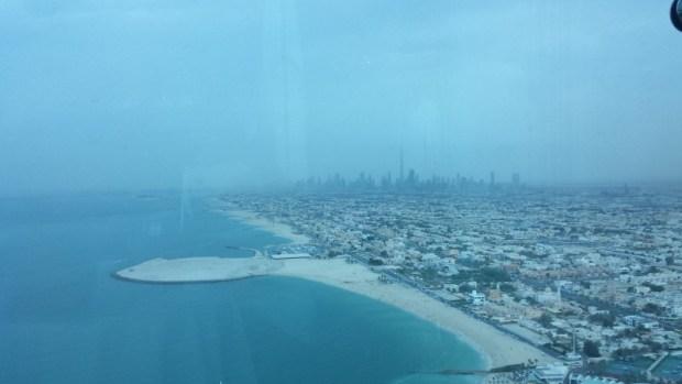 Burj Al Arab hotel Skyview Bar side view