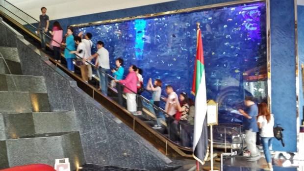 Burj Al Arab hotel lobby escalator