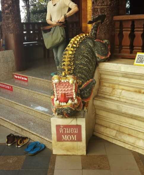 Wat Phra That Doi Suthep Mom statue
