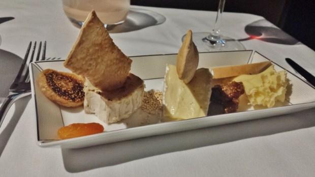 Etihad Airways First Apartment AUH-JFK cheese plate