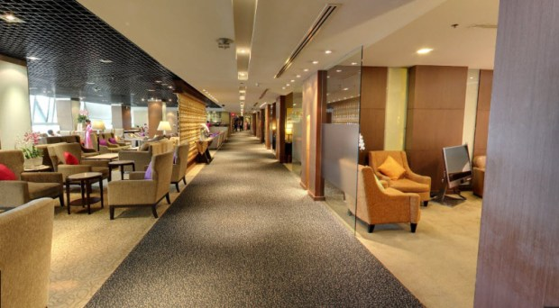 Thai Airways First Class Lounge Bangkok Street View