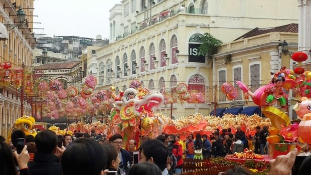 Chinese New Year Macau Senado Square Celebration