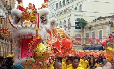 Chinese New Year Macau Senado Square Dragon