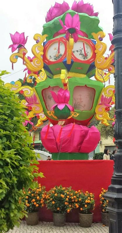 Chinese New Year Macau fountain