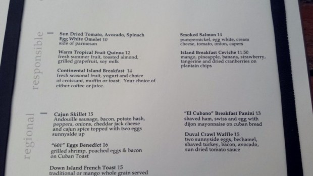 hyatt key west local menu