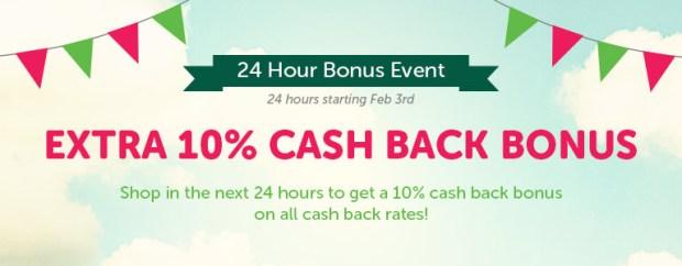 top cashback 10 percent bonus