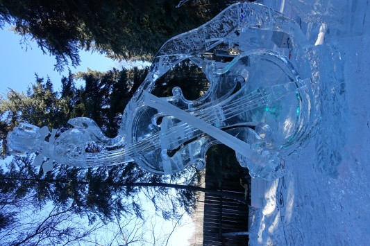 Fairbanks Ice Park Ice Scuplture Championships Violin Day