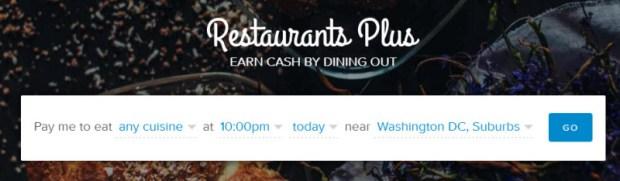 Living Social Restaurants Plus search options