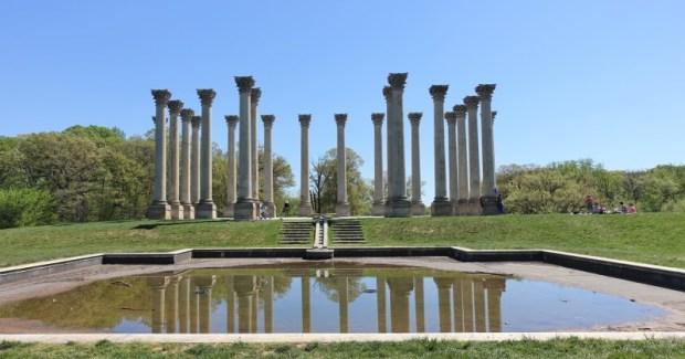 National Arboretum DC Capitol Columns picnic