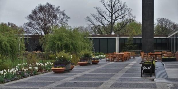 National Arboretum DC visitors center outdoor seating